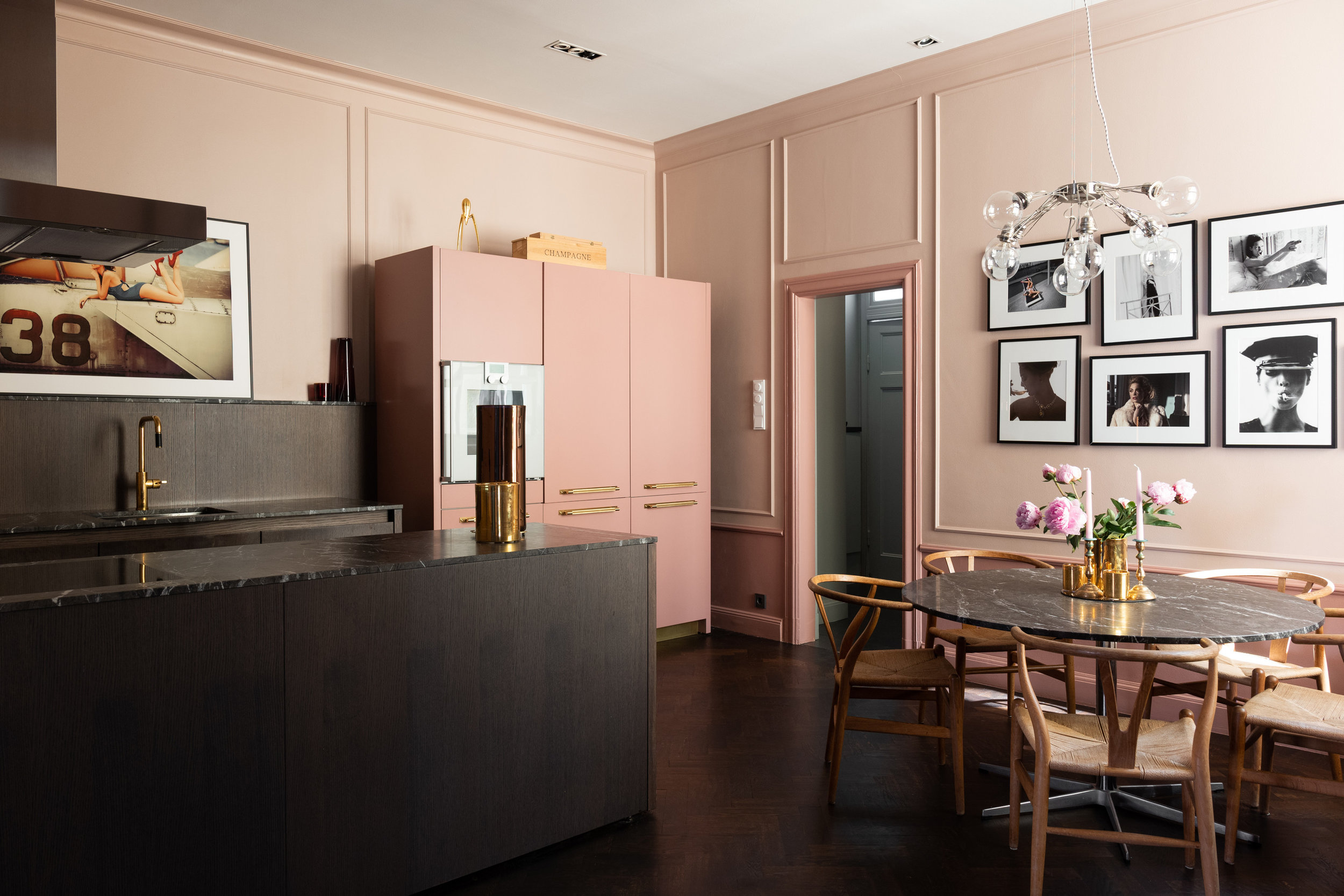 The Nordroom - An Art-Filled Blue And Pink Apartment