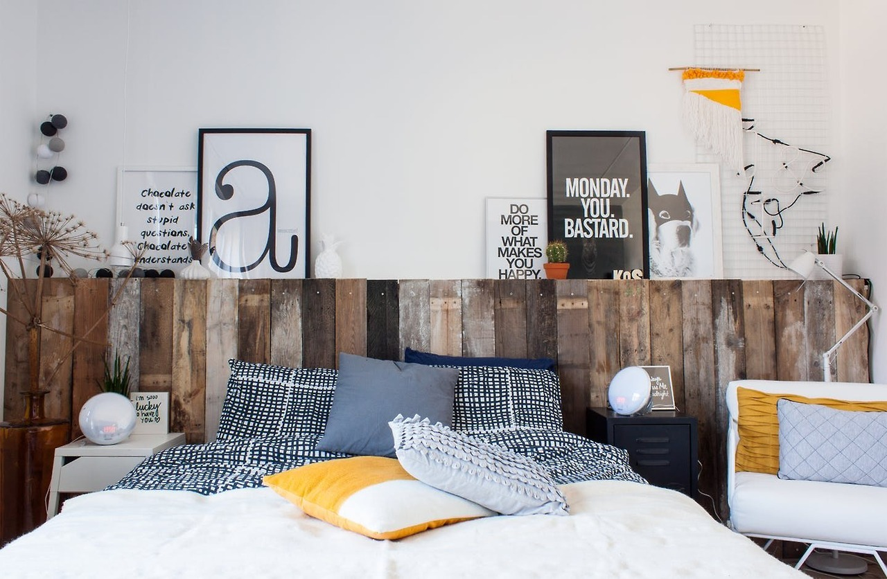 The Nordroom - Creative Headboard and Bedroom Styling Ideas (photography by Winkie Visser)