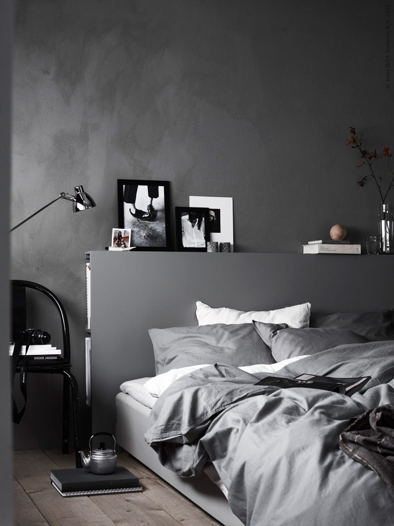 The Nordroom - Creative Headboard and Bedroom Styling Ideas (photography by Ragnar Ómarsson & design by Pella Hedeby for IKEA)
