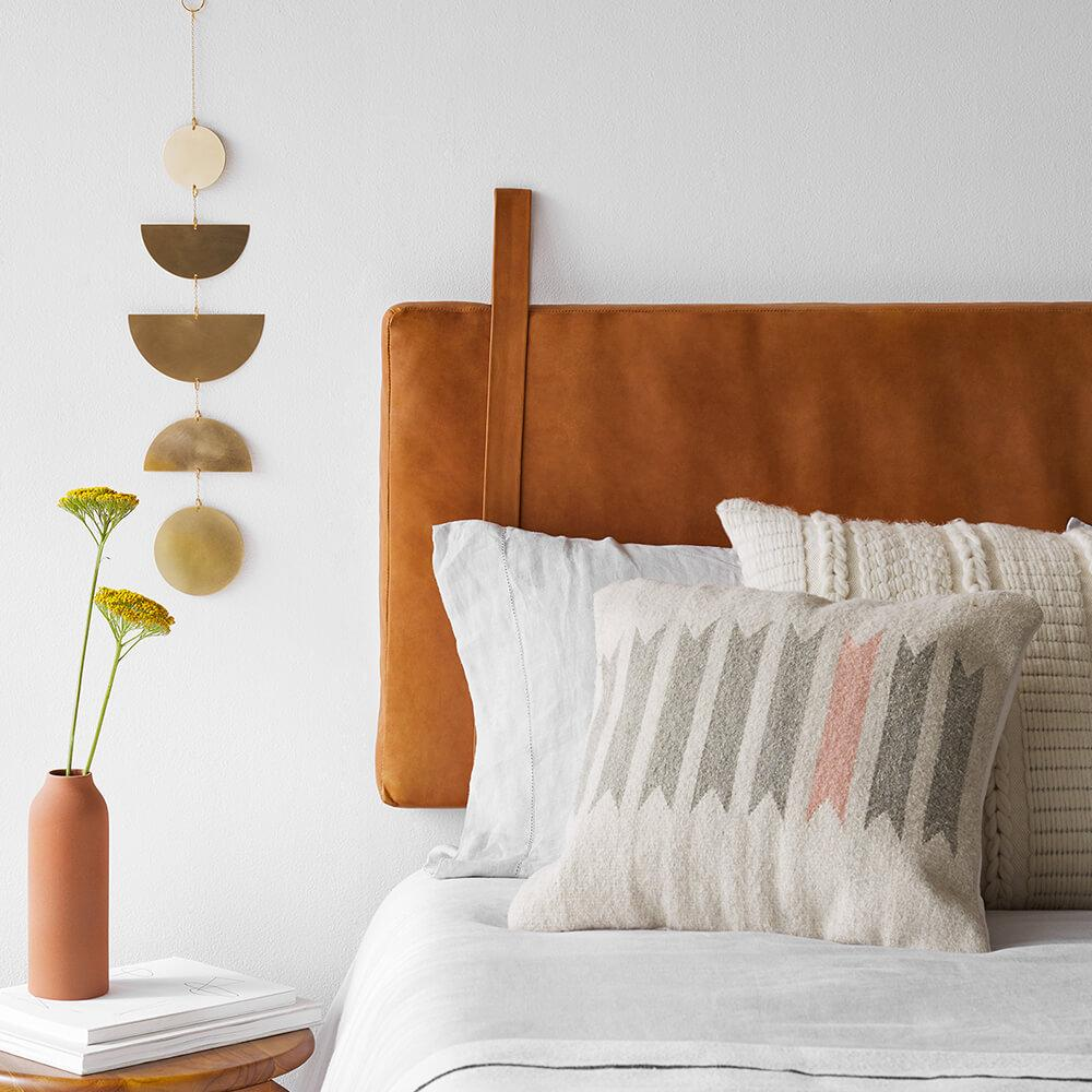 The Nordroom - Creative Headboard and Bedroom Styling Ideas (headboard for sale by The Citizenry)