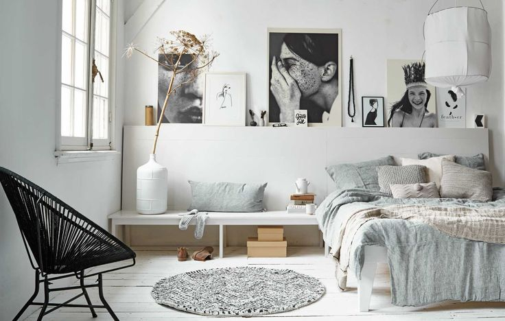 The Nordroom - Creative Headboard and Bedroom Styling Ideas (source: VT Wonen)