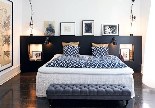 The Nordroom - Креативные идеи оформления изголовья и спальни (фотография Пиа Энгхильд)