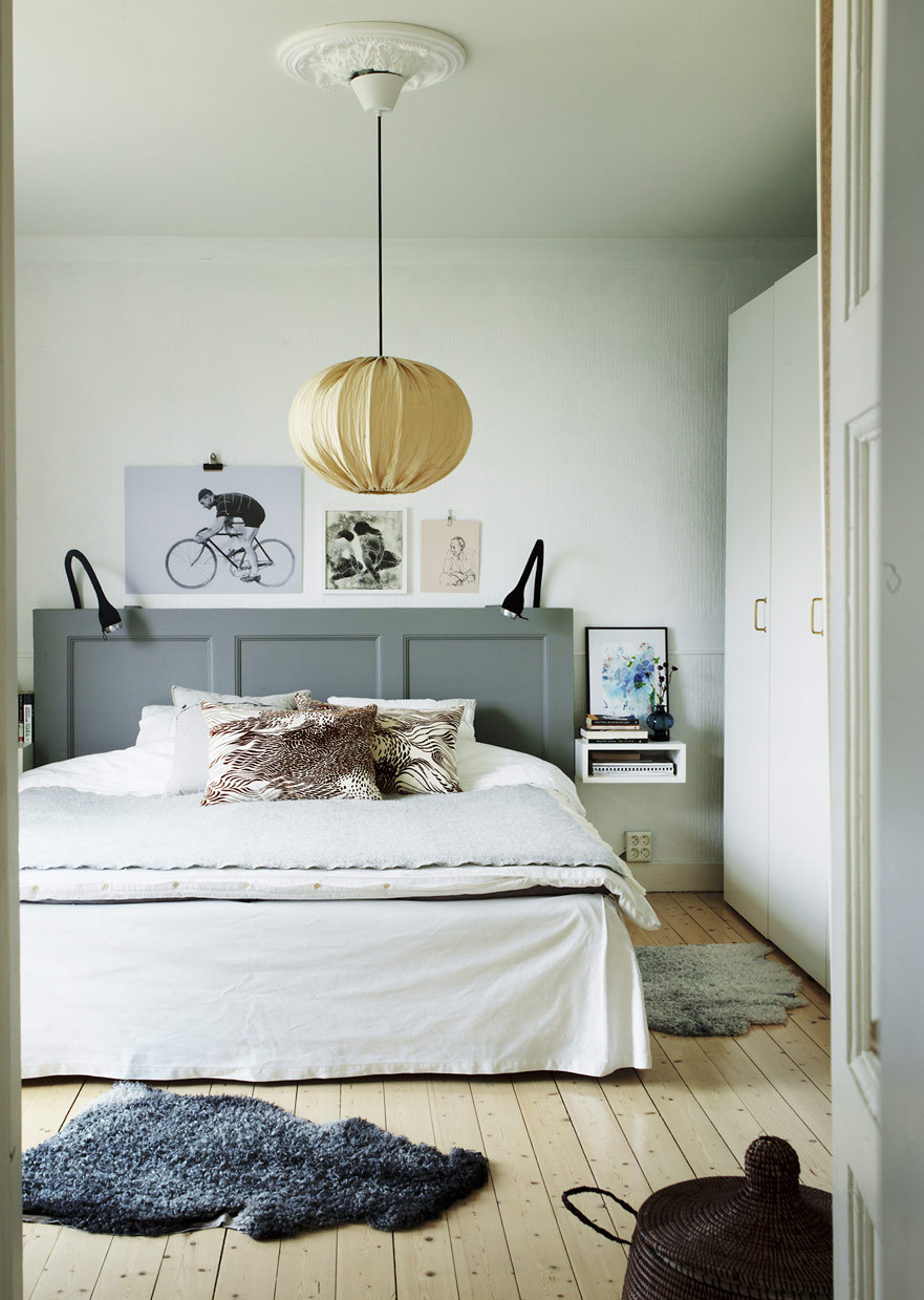 The Nordroom - Creative Headboard and Bedroom Styling Ideas (source: Sköna Hem)