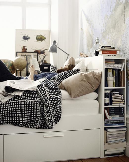 The Nordroom - Creative Headboard and Bedroom Styling Ideas (IKEA Brimnes Headboard)