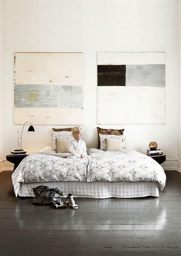 The Nordroom - Creative Headboard and Bedroom Styling Ideas (photography by  Morten Koldby Photography )