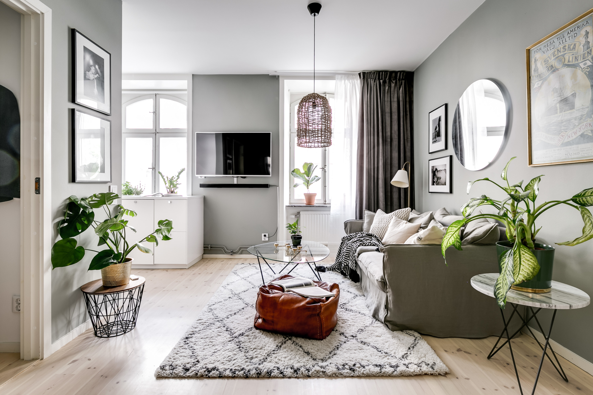 The Nordroom - A Small Grey And White Scandinavian Apartment