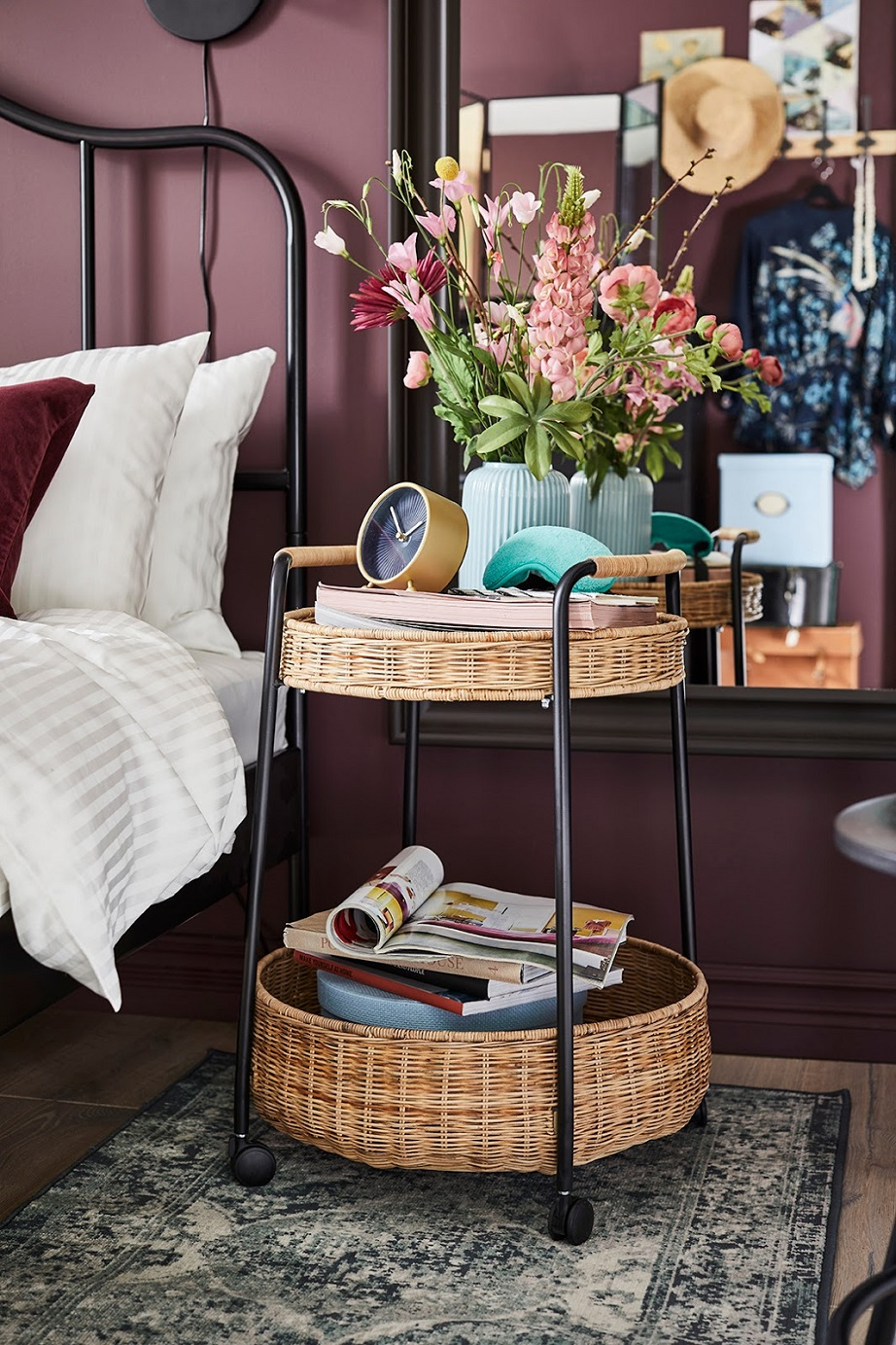LUBBAN serving cart with storage