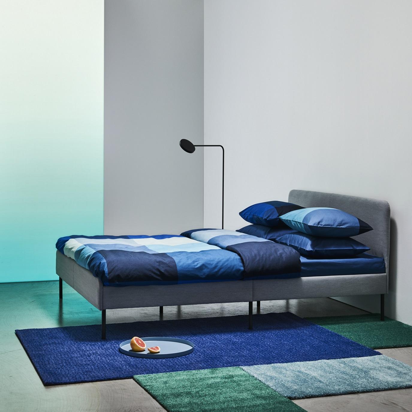 SLATTUN upholstered bed