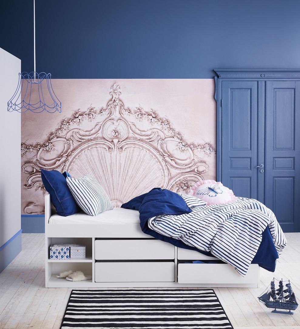 SLÄKT bedframe with storage