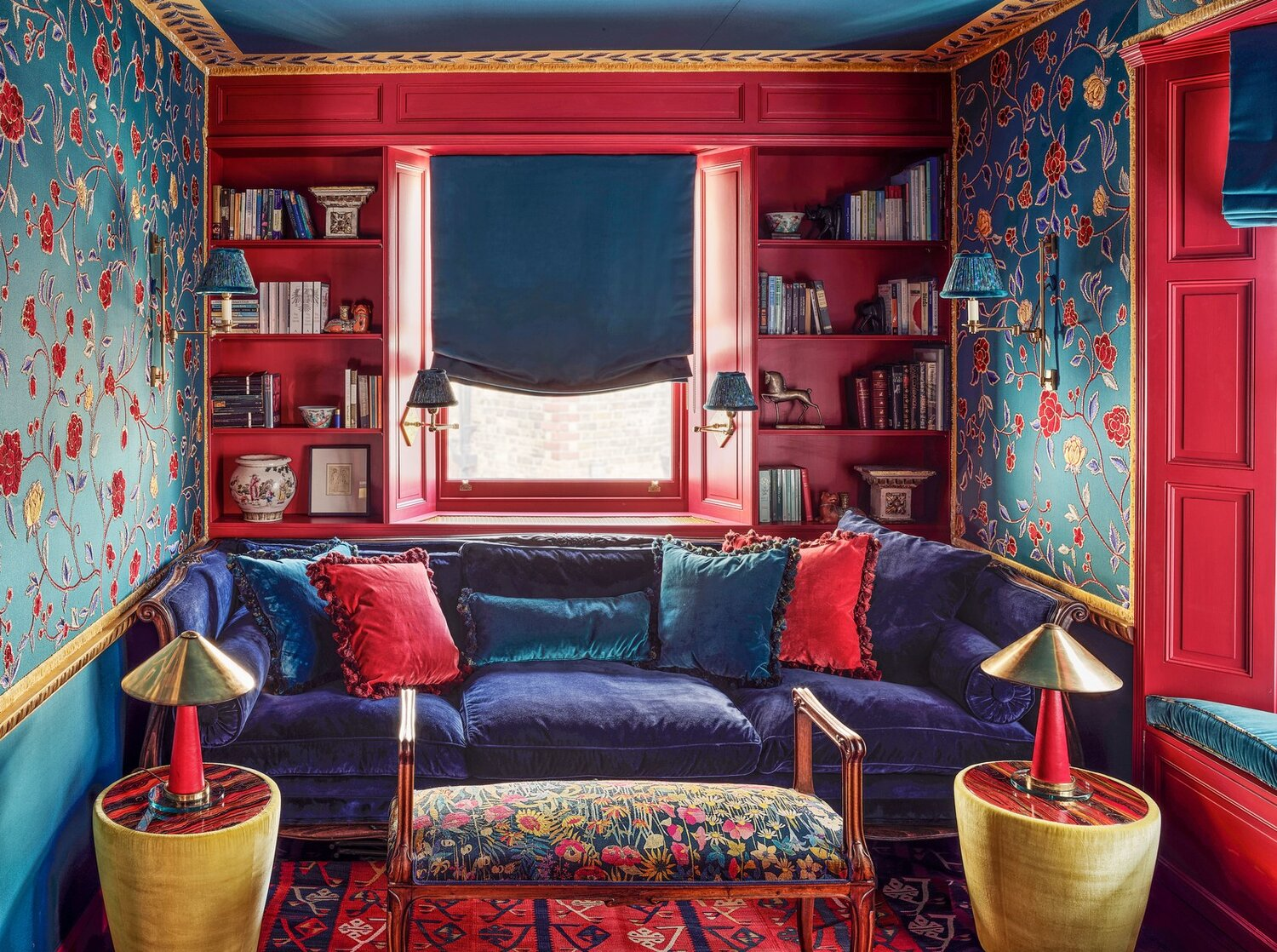The Nordroom - A Colorful London Home with De Gournay Wallpaper in Every Room