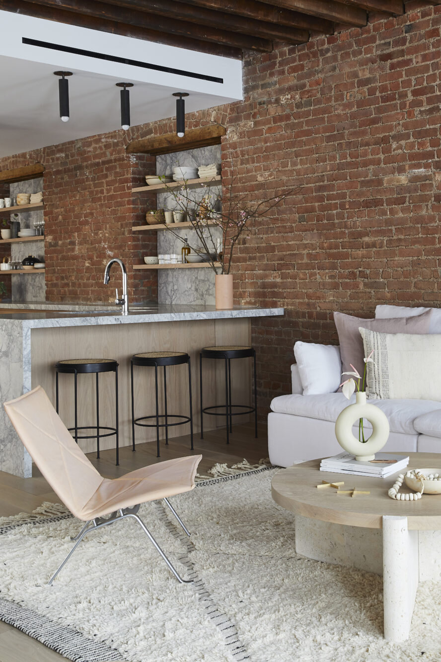 The Nordroom - A SoHo Loft with Exposed Brick and Subtle Color Touches