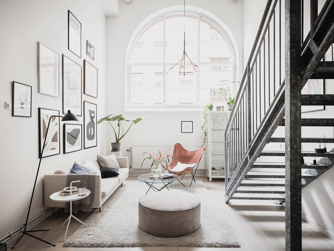 A Bright Scandinavian Loft Apartment