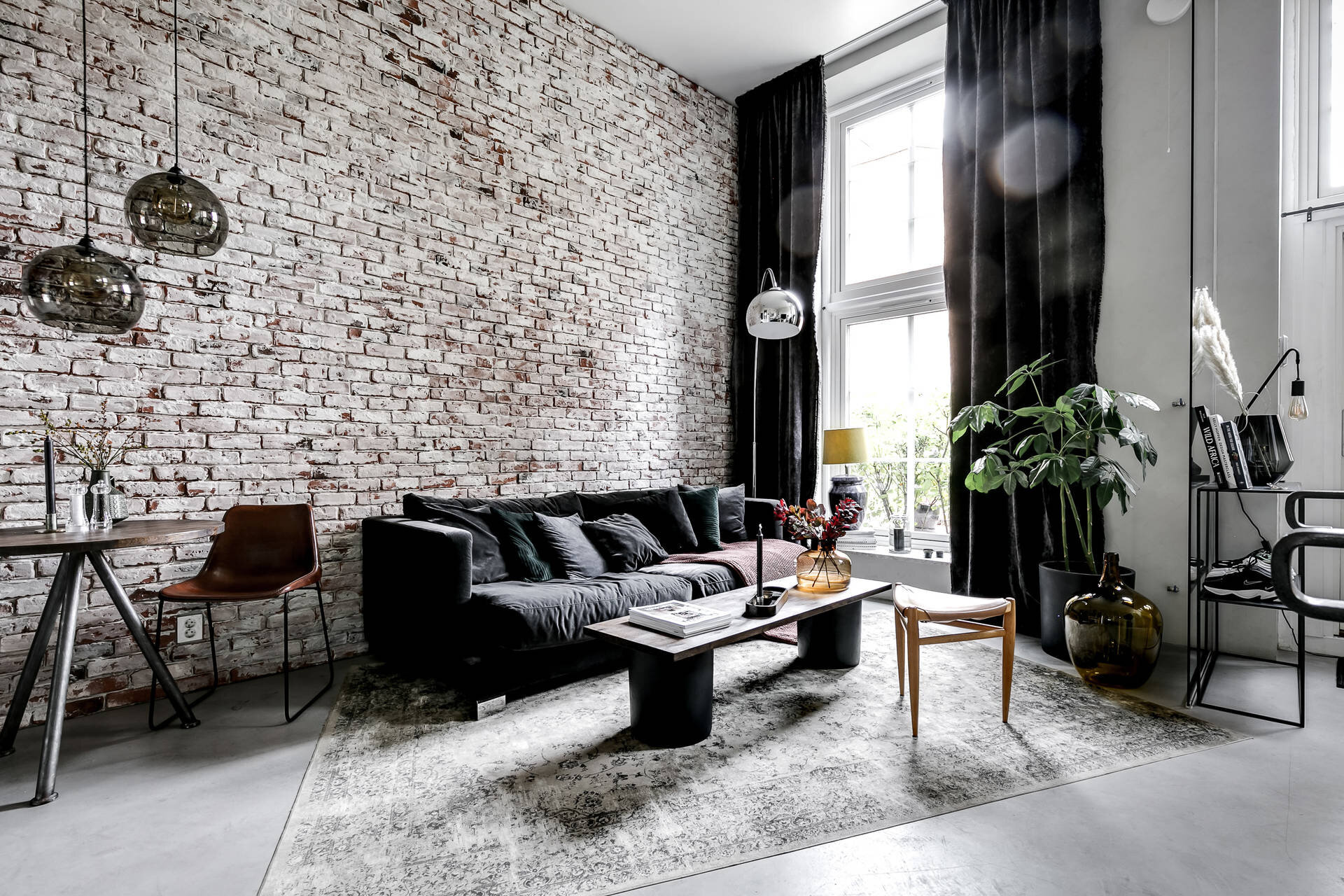 An Industrial Scandinavian Apartment With Exposed Brick Wall The Nordroom