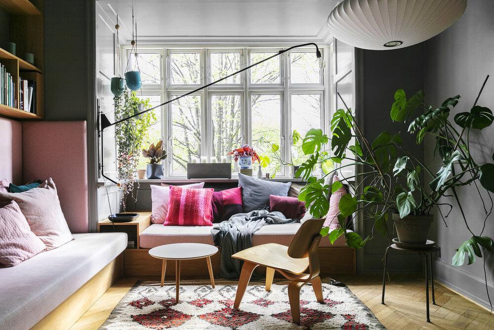 北欧风格的独特粉红色和灰色房屋-The Nordroom
