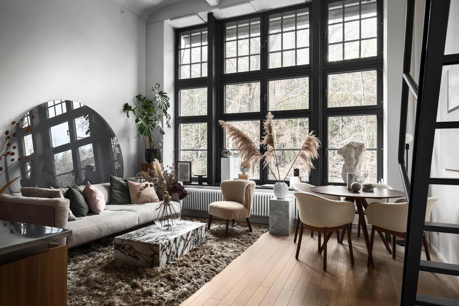 Monochrome Scandi Loft Apartment