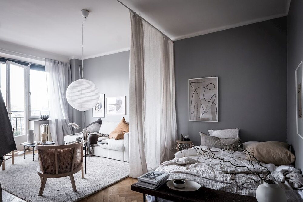 Небольшая квартира-студия, оформленная в спокойных тонах - Nordroom