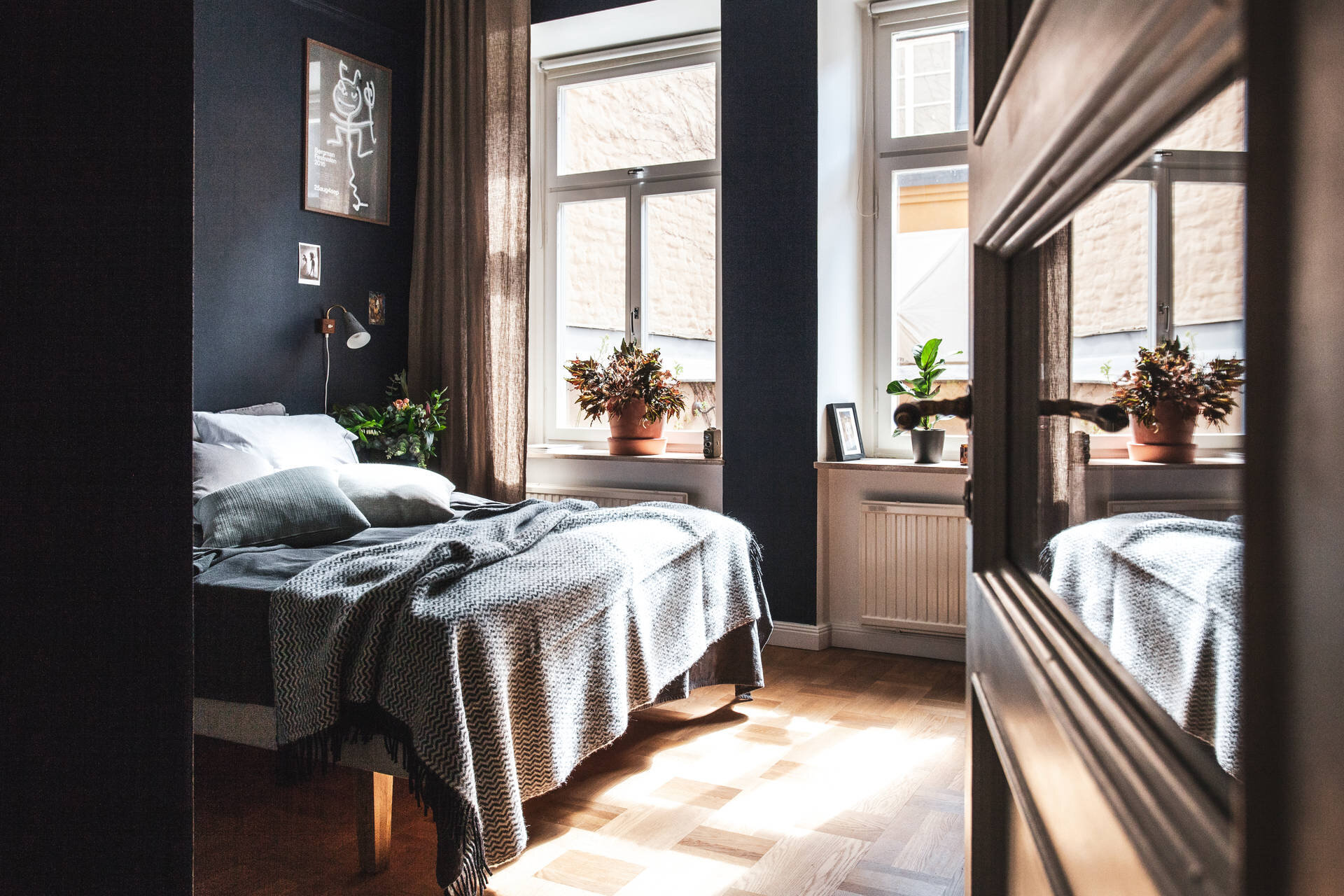 A Warm Scandinavian Apartment With A Moody Bedroom The Nordroom