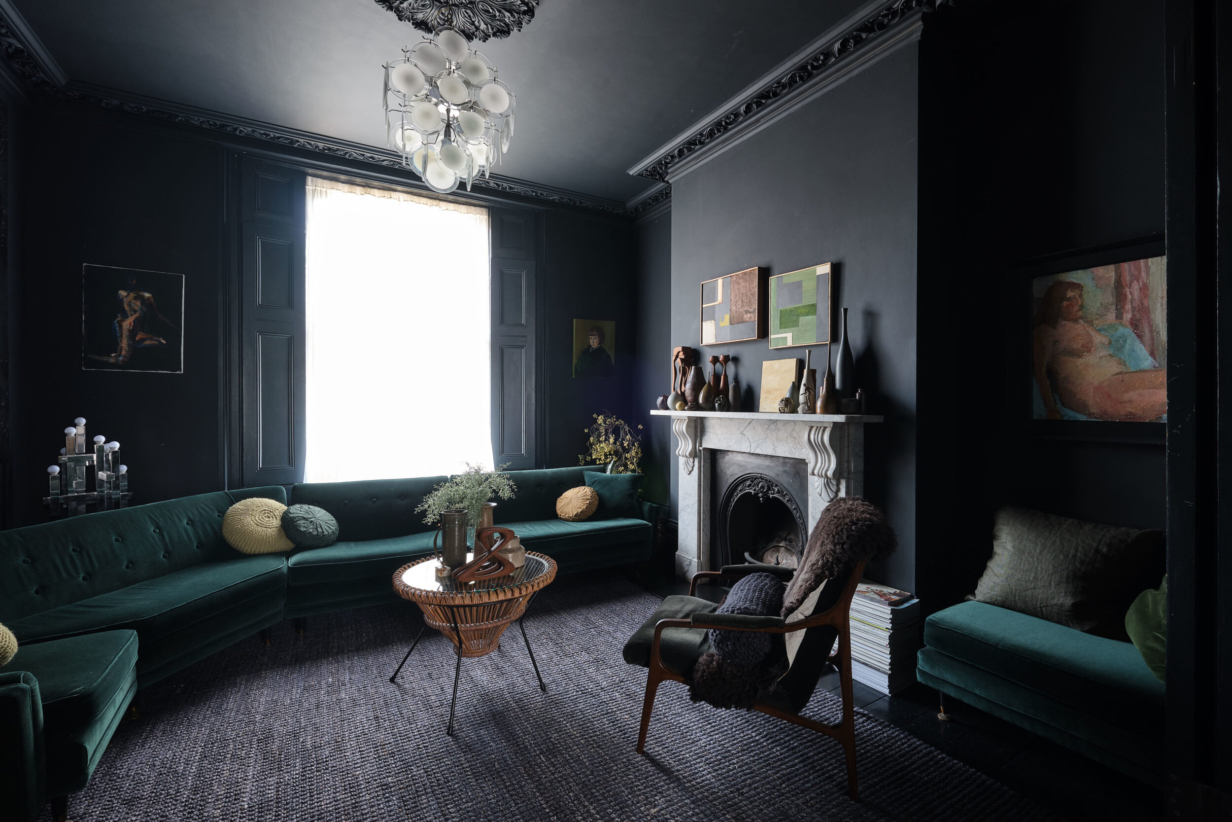 Moody Colors And Mid Century Design In A Unique Victorian Home The Nordroom