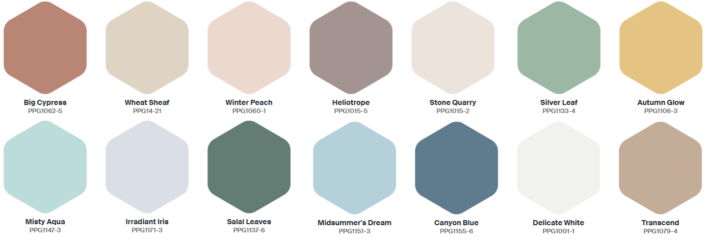 The Color Trends 2021: PPG 'Be Well' Palette - The Nordroom