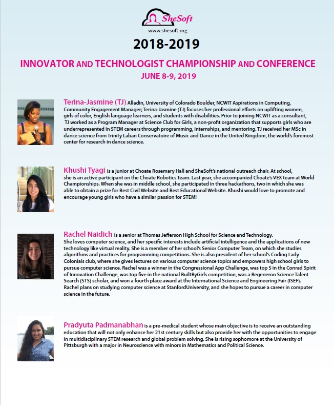 SheSoft 2019 Conference — SheSoft