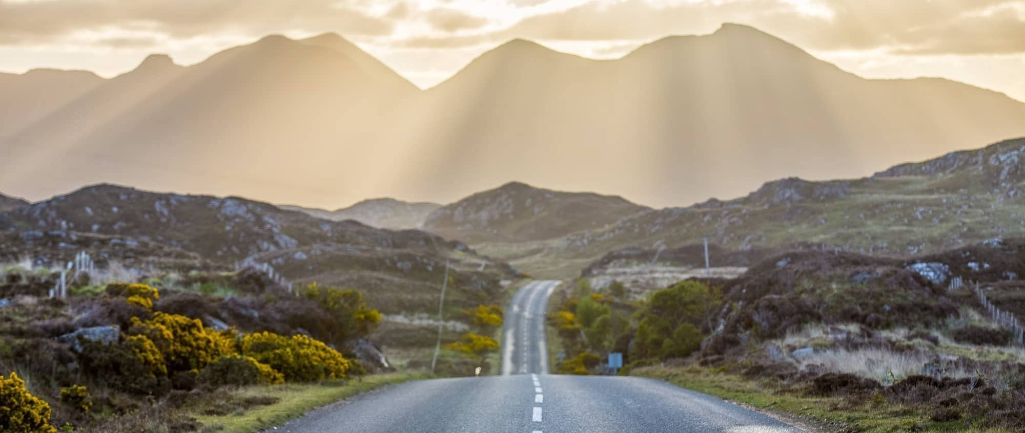 The NC500, a coastal tourist road in Scotland