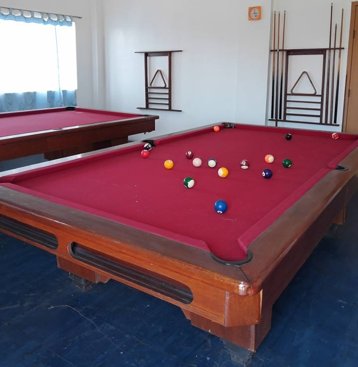 Billiards Room - Challenge the rest of your barkada to a round or two of billiards! Two sets are provided and rates are a low P100/hour.Hours:Weekdays from 8:00 AM up to 7:00 PMWeekends from 8:00 AM up to 1:00 PM
