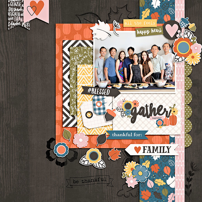 Eveline took advantage of that beautiful woodgrain paper and the digital stamps!