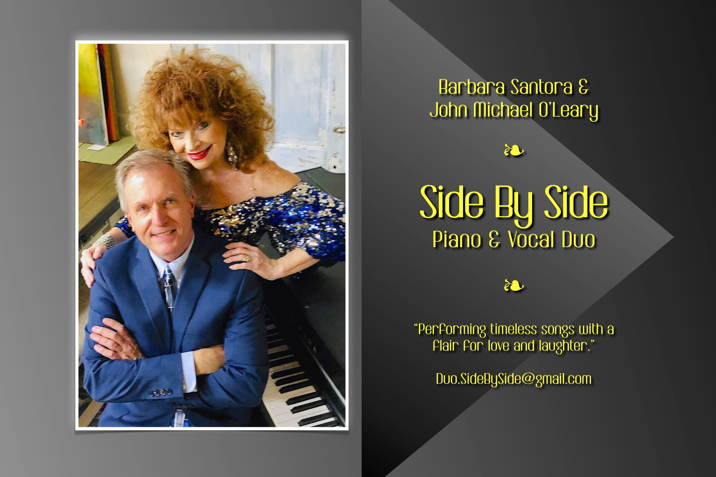 Side By Side Duo with Barbara Santora & John Michael O'Leary