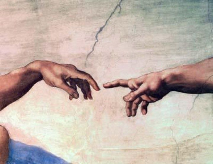 Michelangelo's Sistine Chapel - God reaching out to mankind