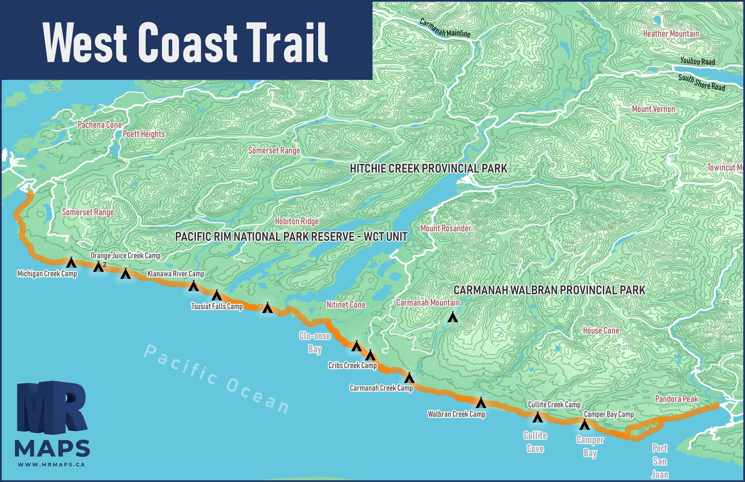 Best Multi-Day Hikes in Canada – The West Coast Trail (BC ... on alaska map, alberta map, calgary map, london map, or map, manitoba map, india map, surrey map, british columbia map, brazil map, costa rica map, nova scotia map, maryland map, ks map, united kingdom map, hungary map, madagascar map, de map, ontario map, vancouver map,