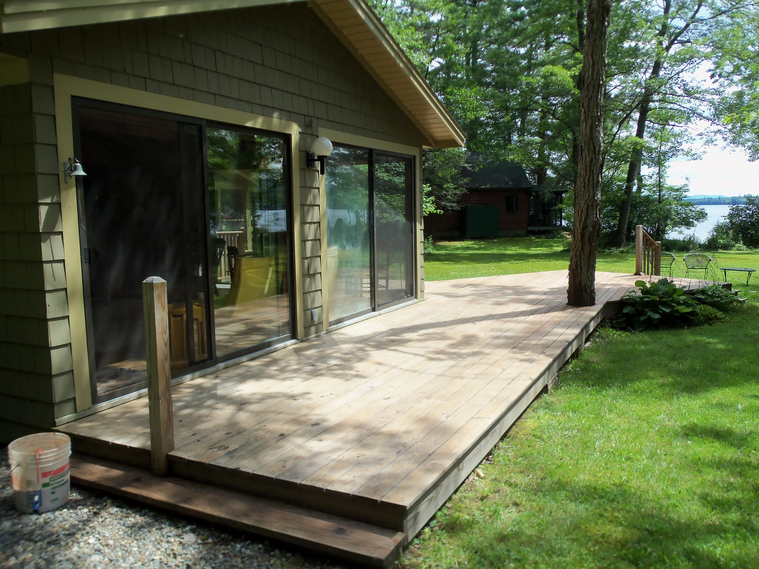 Week at a cabin in Weld, Maine. This 4 bedroom, 2 bath vacation home on Webb Lake has it all! Wonderful views of the lake and mountains from the glassed-in living room, screened-in porch, and spacious deck. First floor bedroom and laundry room and more. Private small sandy beach. Available Fall 2019 or Summer 2020. | Value: $ | Minimum bid: $
