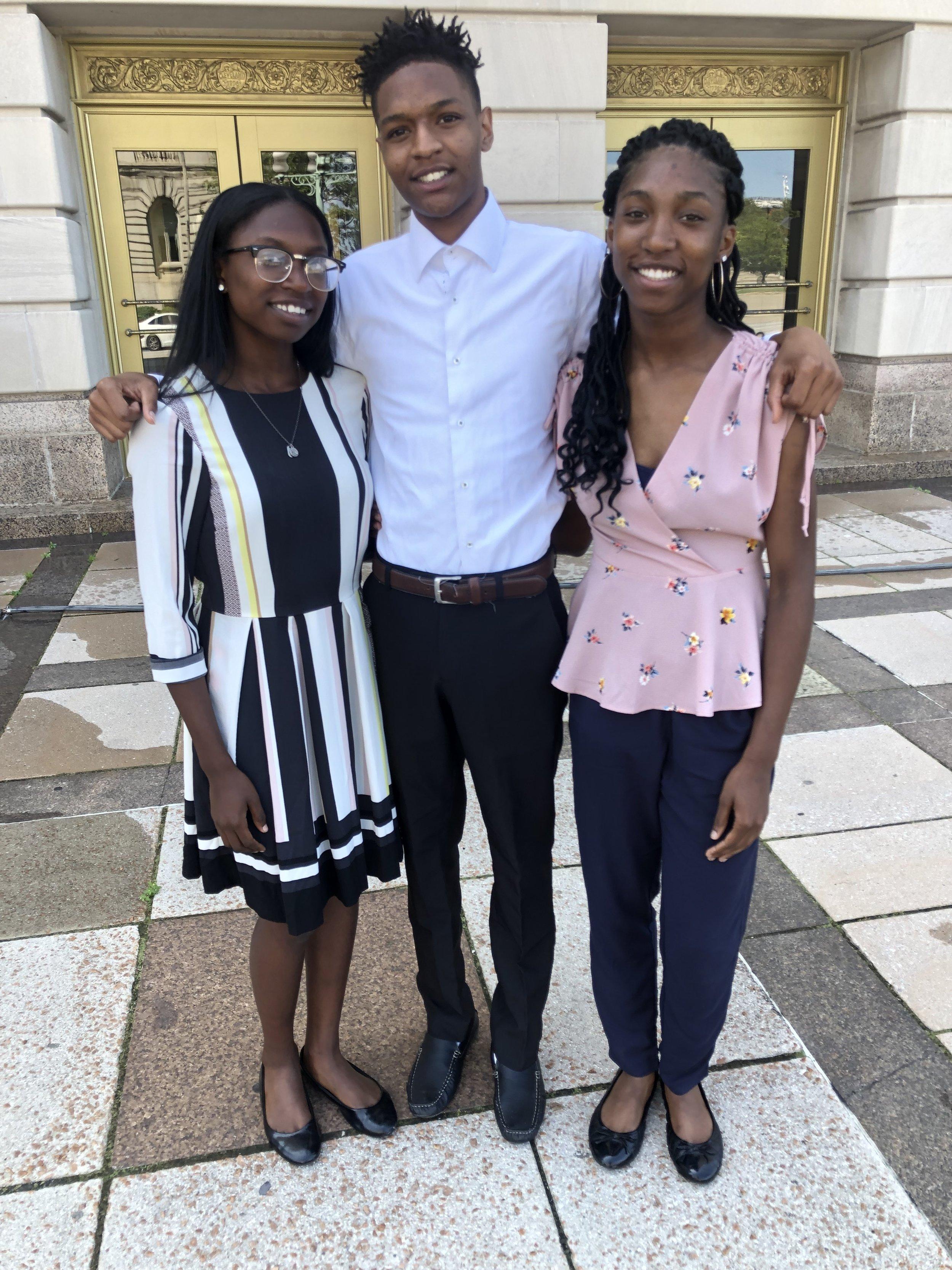 Internship Participants Taylor, Jonathan and Tyra