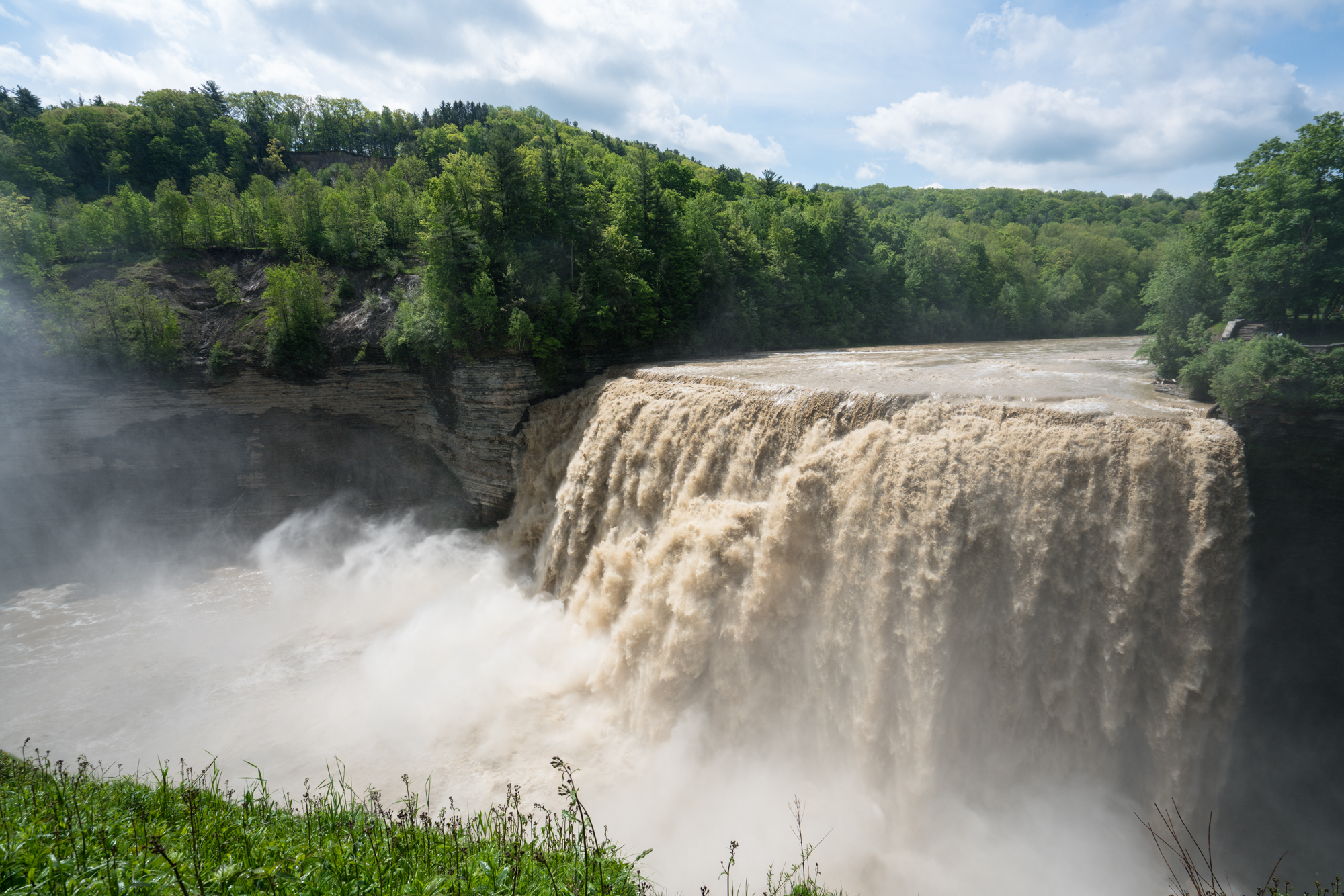 A very wet spring means tonnes of water flowing over the falls at Letchworth State Park.