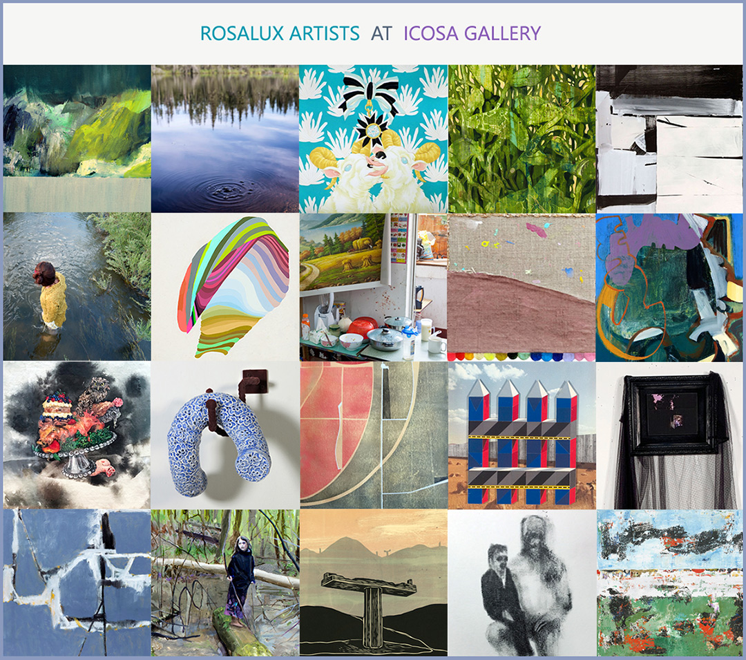 Driving South in a Mostly Straight Line - is the first phase of an art exchange between Rosalux Gallery, an art collective based in Minneapolis, Minnesota and ICOSA collective of Austin, Texas. Selected by Andrea Mellard, the exhibition introduces Austin to the 20 members of Rosalux.
