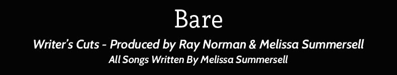 Melissa Summersell's Debut 2 Disc CD Bare and fully Dressed