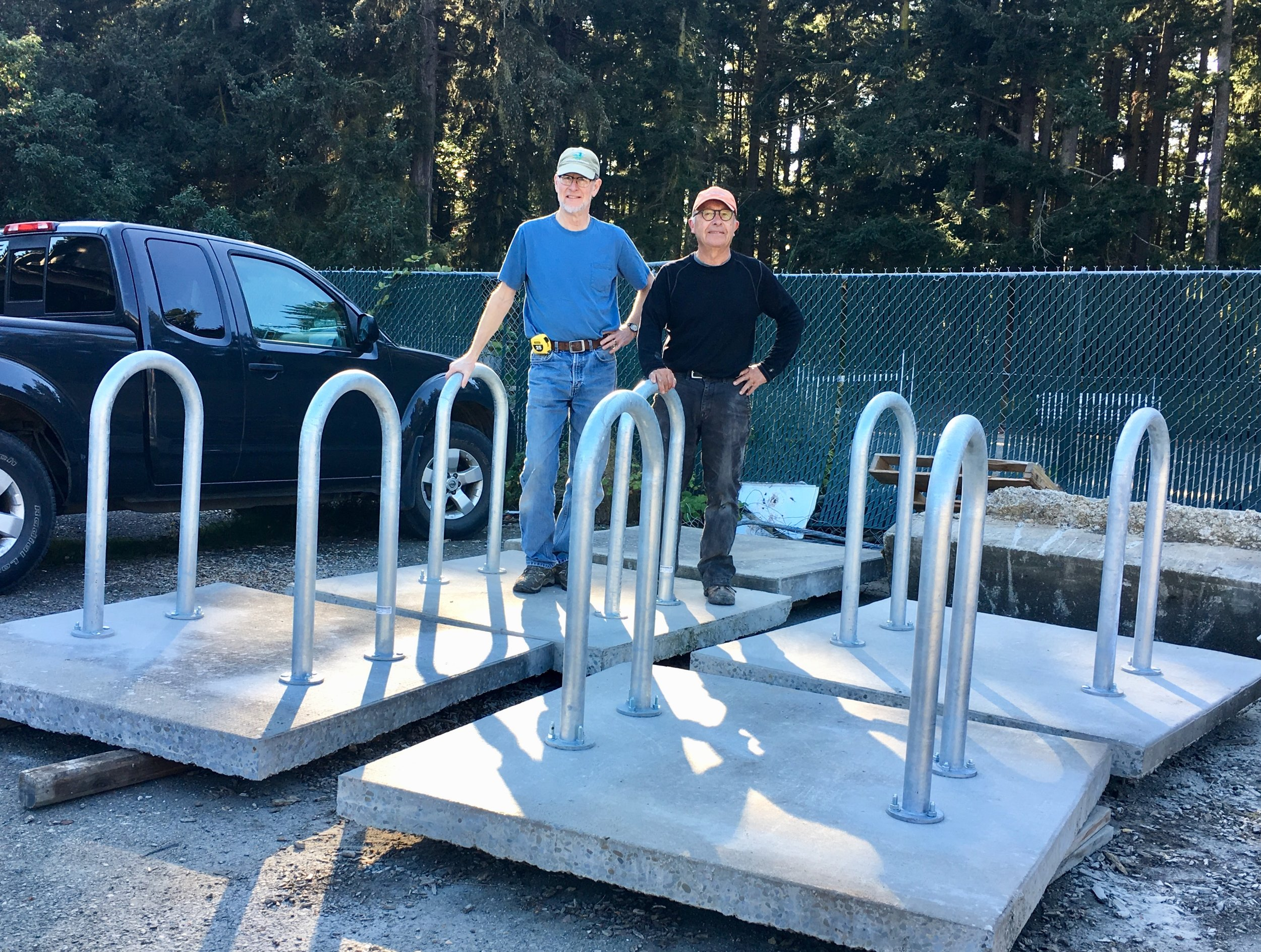 New bicycle racks ready to be installed