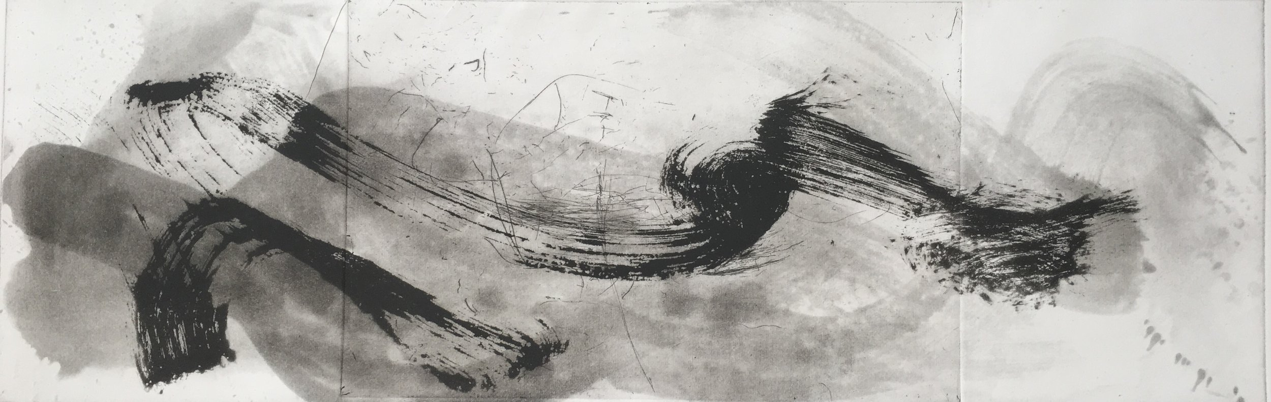 Geraldine van Heemstra - Between Sound and Movement, 2018, Spitbite, sugar lift aquatint and hard ground etching on Hahnemuhle paper, 59 x 19 cm.jpg