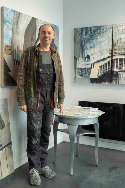 Luke in his Residency Studio
