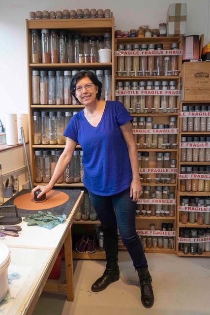 Catalina in her Studio