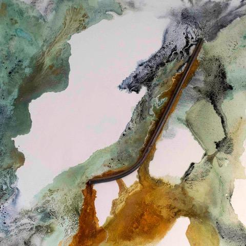 IMPOSITION - Metal pigments, indigo dye, metal barrier and egg tempera on canvas Catalina Christensen 2016