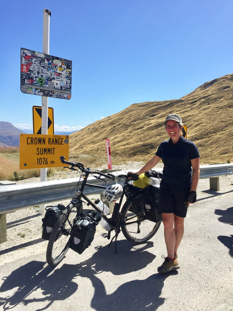 Hannah on her epic cycle around New Zealand in 2019