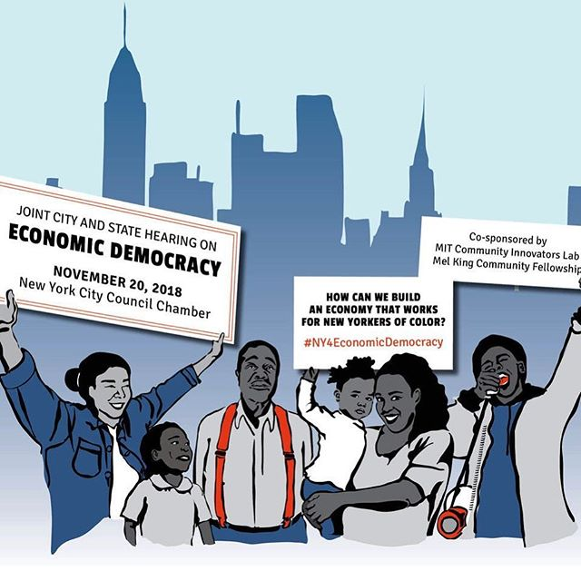 So much is being offered to make sure tech giants have a place in #NYC, but what is being done for the NYers of color who already live here? Tell your elected officials on Nov 20th, that it is time we build an economy that meets our communities' needs! #NY4EconomicDemocracy