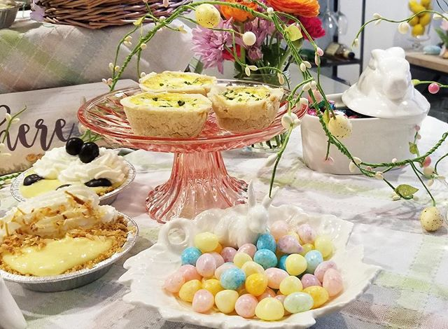 Happy Easter everyone! #easter2019 #easterbrunch #happyeaster #quiche #glutenfree #pie #eastereggs #egghunt