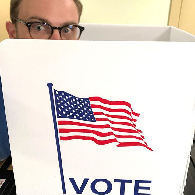If you vote without taking a selfie, does it even count? #deepthoughts