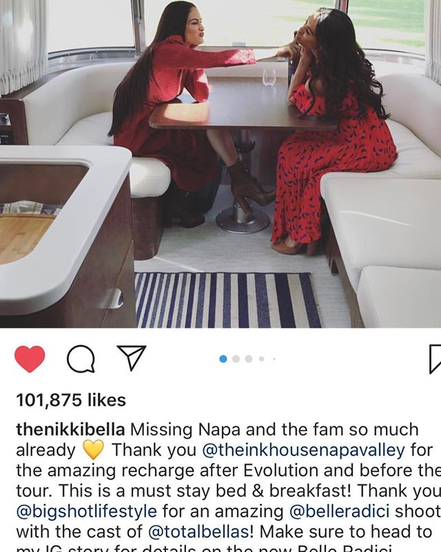 """Thank you @thenikkibella for the shoutout!! Missing you guys as well!! Fun times capturing you at work and play for @totalbellas and @belleradici 🙏Much Congratulations on your win 🏆for """"Best Reality Television Star""""  You are rocking it! Such an honor being able to capture a glimpse of this during our shoots through the years xo!  Till next time my friend xo 💝 Thank you @thevacationjj @thebriebella @whatlolalikes for also making our recent photoshoot a fun one and one that is even more """"pleasing to the eye"""" 😊 📸💕 #napavalley #celebrity #celebrityshoots #bigshotlifestyle  #wine #iconicmoments #television #mustwatch #womensimageawards #awardwinner #realitytv #celebrityphotographer #portraits #bigshotinwinecountry"""