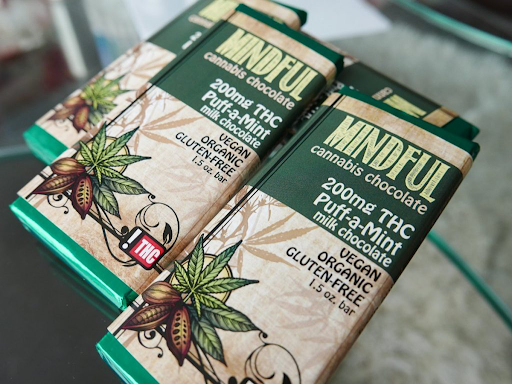 Medicinal cannabis sold as chocolate bars by Mindful, Credit: Mindful