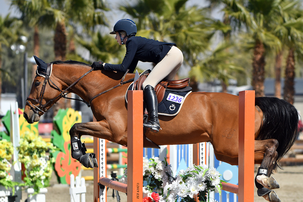 Hannah Selleck and Descanso Farm-bred seven-year-old Elita Toscita DF. Photo by    ESI Photography