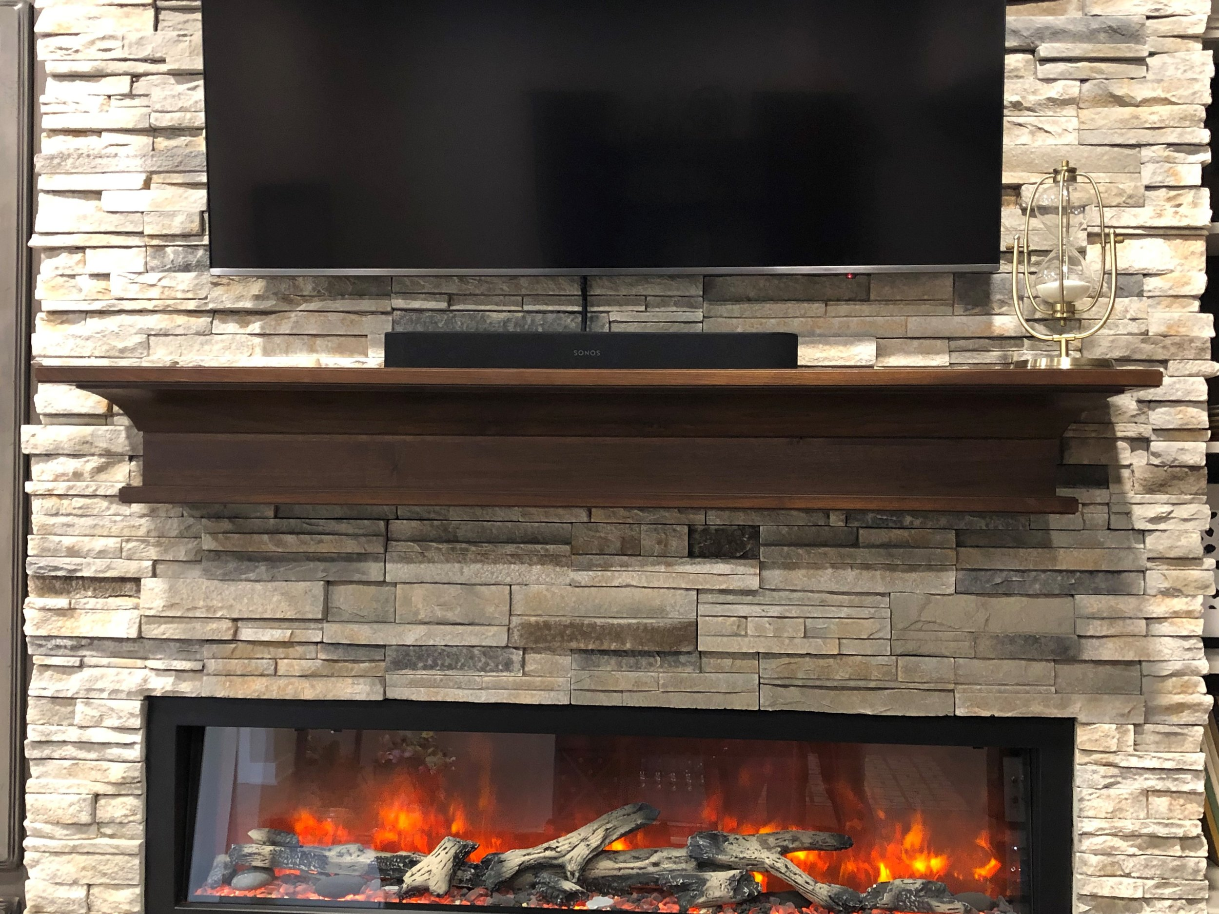 Mantel - StarMark Cabinetry - Walnut finished with Rye stain