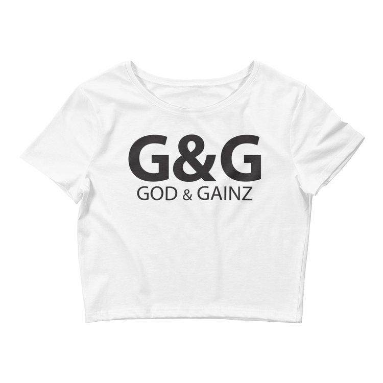 god & gainz crop tops -