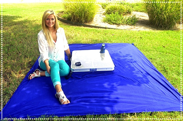 You'll Never Go Outdoors Without It. Ever Again! - Tablanket is an all-in-one table and blanket, that collapses and folds into an easy-to-carry case.